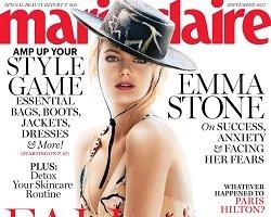 Emma Stone на обложке Marie Claire US