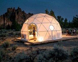 Комфортный купол для просмотра затмения
