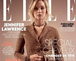 Элегантная Jennifer Lawrence на обложке ELLE