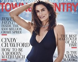 Супермодель Синди Кроуфорд на обложке Town & Country Magazine