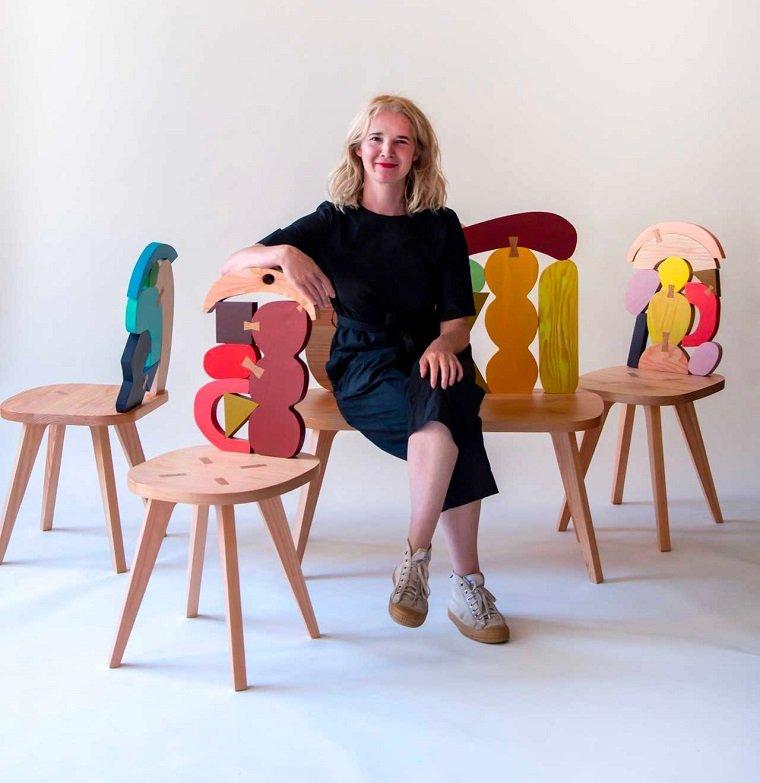 Яркая мебель ручной работы by Donna Wilson