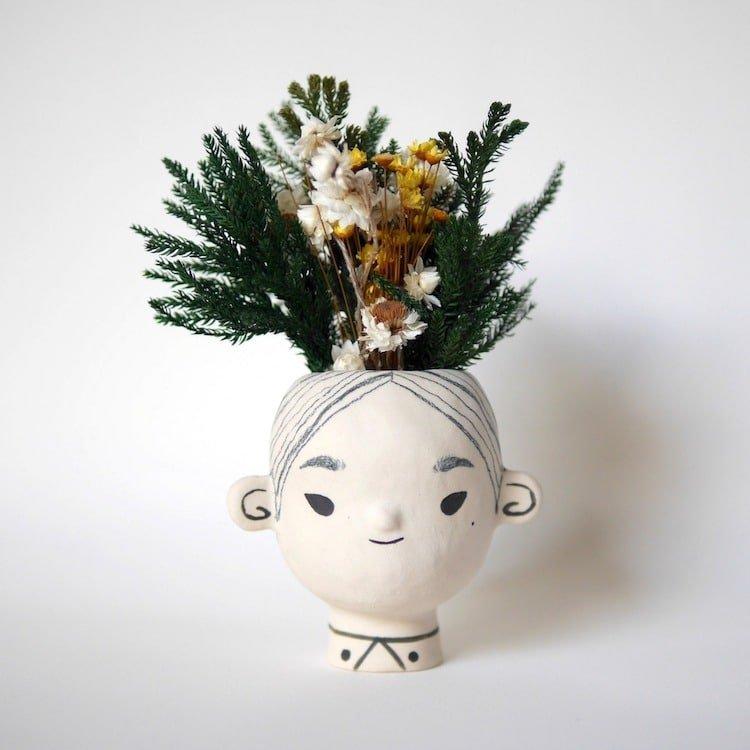 Очаровательные цветочные горшки ручной работы