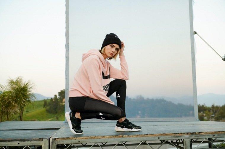 Кара Делевинь в рекламе новых кроссовок от Puma