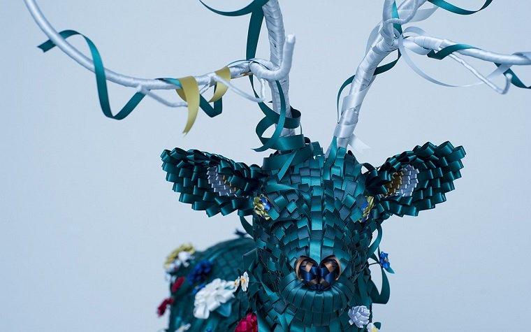 Удивительные handmade скульптуры из разноцветных лент
