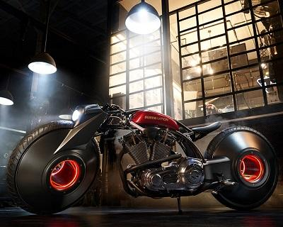 Футуристический байк на базе Harley by Smoked Garage