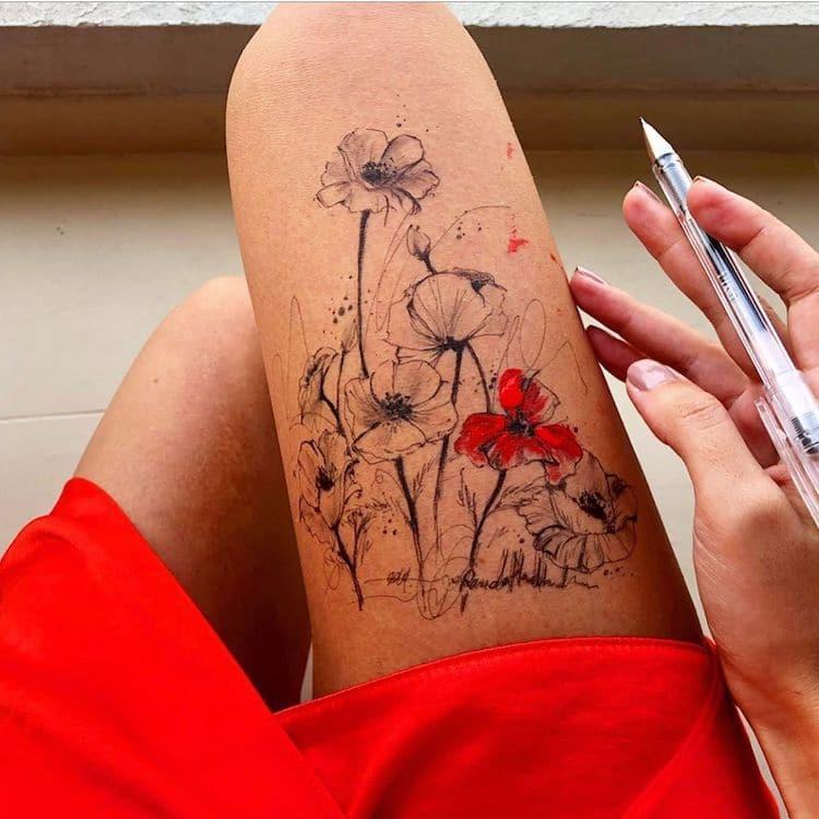 Рисунки на ножках by Randa Haddadin