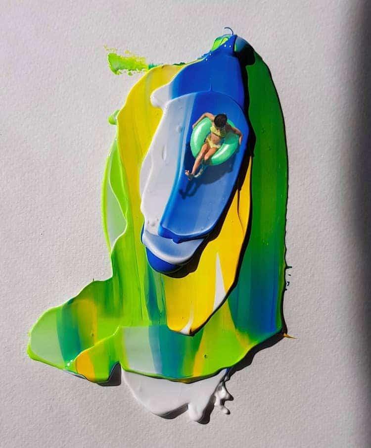 Картины в необычном стиле by Golsa Golchini