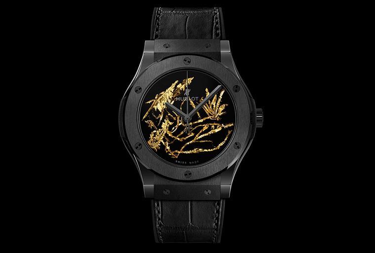 Роскошные часы с необычными золотыми кристаллами by Hublot