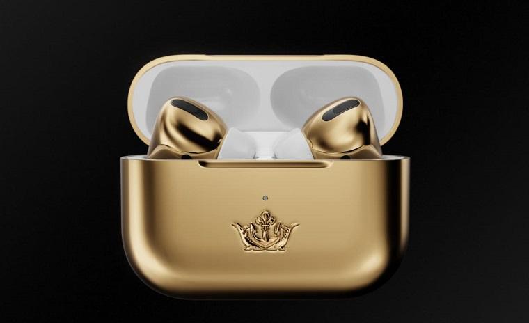 Наушники AirPods Pro из золота by Caviar