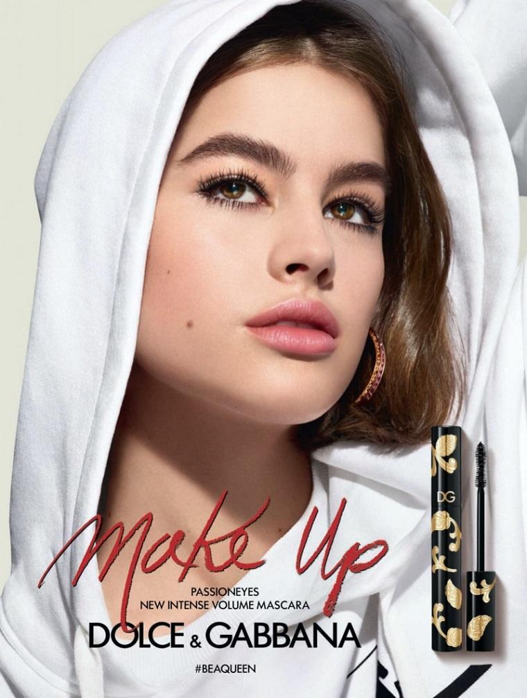 Очаровательная Lily Jean Harvey в рекламе новой туши от Dolce Gabbana
