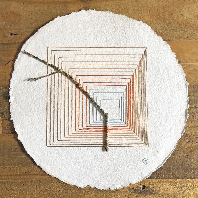 Природные формы и геометрические линии в handmade вышивках by Natalie Ciccoricco