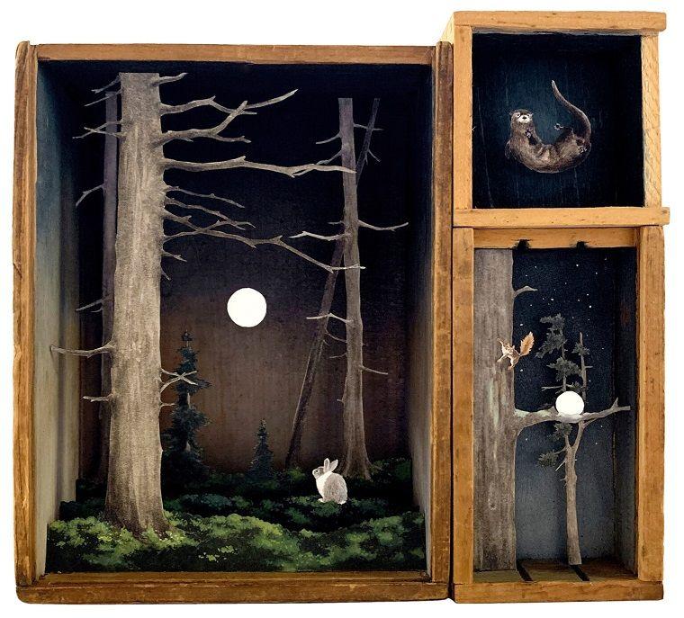 Таинственный лес в диорамах ручной работы by Allison May Kiphuth